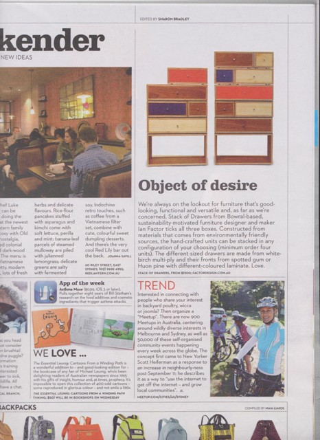 Good Weekend Magazine, Sydney Morning Herald and Melbourne Age
